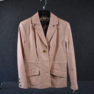 Terry Lewis Light Pink Leather Jacket w/Tags